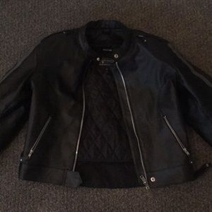 XElement Leather Motorcycle Jacket with pads